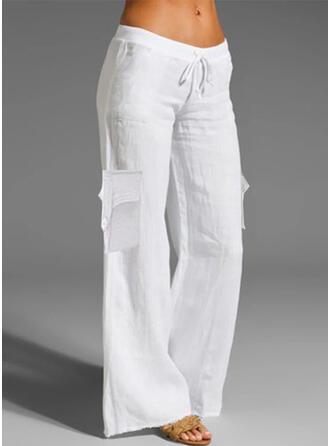 Einfarbig Kordelzug Lässige Kleidung Einfach Lounge Pants