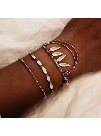 Fashionable Vintage Boho Alloy With Leaf Women's Ladies' Unisex Charm Bracelets Bolo Bracelets 3 PCS