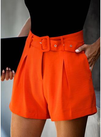Einfarbig Elegant Jahrgang Kurze Hose