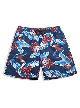 Herren Gefüttert hawaiisch Board Shorts