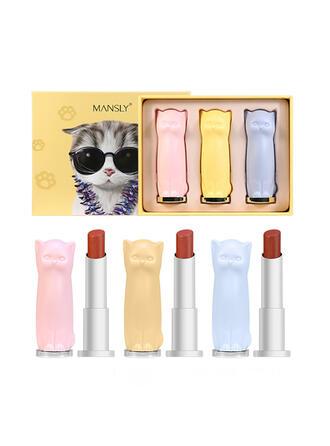 3-farbig Matt Schimmern Lippenstifte Lippensätze mit Box