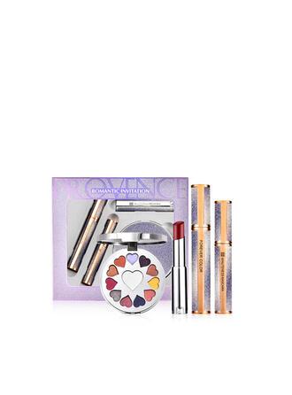 4 STÜCK Matt Klassisch Lippenstifte Wimperntusche Lidschatten-Palette mit Box