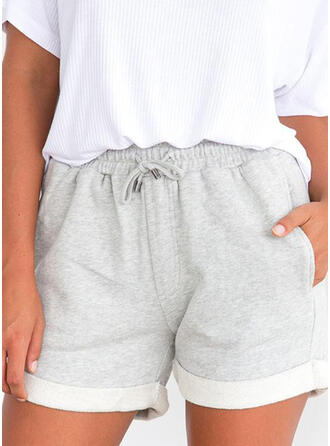 Einfarbig Kordelzug Lässige Kleidung Einfarbig Kurze Hose