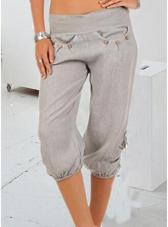 Taschen Übergröße Lässige Kleidung Einfach Kurze Hose