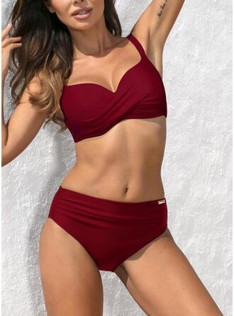 Halter V-Neck Elegant Plus Size Bikinis Swimsuits