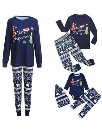 Weihnachtsmann Bär Schreiben Passende Familie Christmas Pajamas