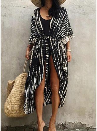 Gradient V-Ausschnitt Elegant Attraktiv Lässige Kleidung Strandmode Bademode