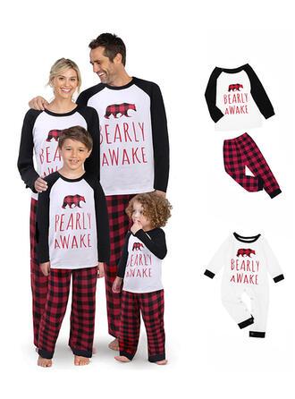 Bär Schreiben Passende Familie Christmas Pajamas