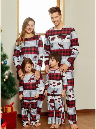 Rentier Karierte Drucken Passende Familie Christmas Pajamas