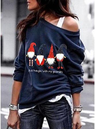 Baumwolle Drucken Weihnachten Weihnachts-Sweatshirt