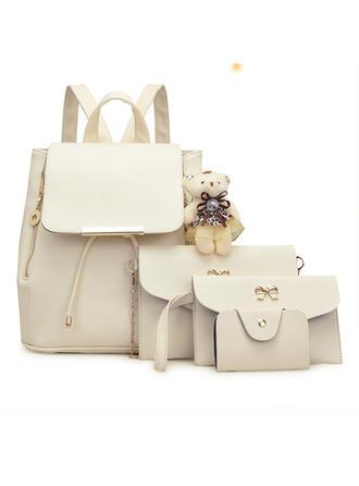 Prächtig/Einfarbig Umhängetaschen/Tasche Sets/Rucksäcke/Geldbörsen & Wristlet Taschen