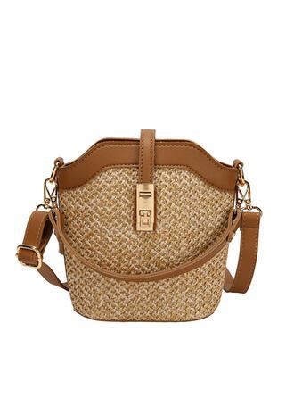 Zarte/Traumhafte/Einfarbig/Böhmischer Stil/Geflochten Handtaschen/Umhängetaschen/Schultertaschen/Strandtaschen