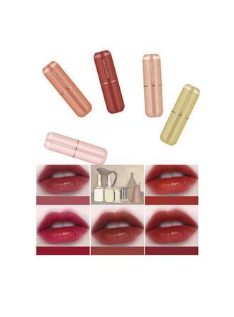5-farbig Matt Klassisch Samt Lippenstifte Lippensätze mit Box