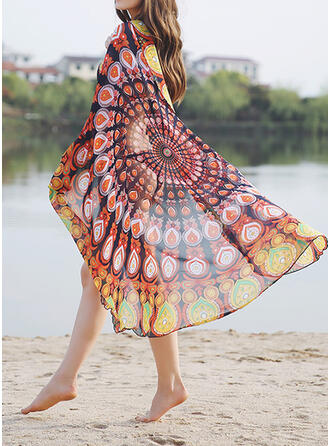 Print/Graphic Prints/Colorful attractive/Skin-Friendly/Simple Style Beach Towel