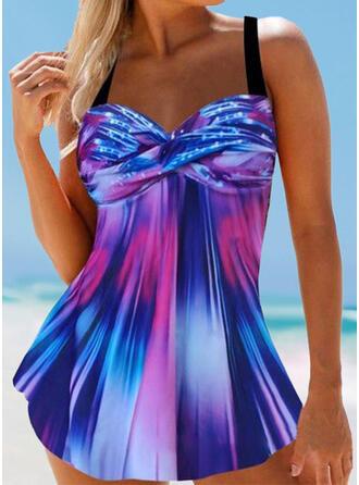 Spleiß Farbe Gradient Träger Lässige Kleidung Erstaunlich Badekleider Bademode