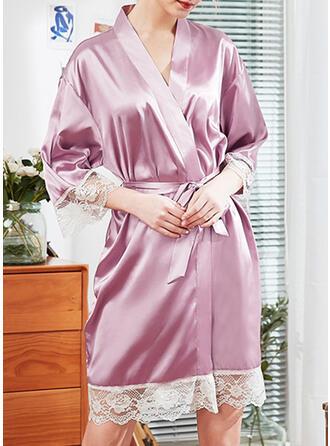 Polyester Geometrisch Sexy Wimpernspitze Verlockend Kleid
