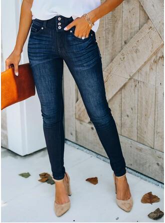 Taschen Shirred Übergröße Elegant Sexy Denim Jeans