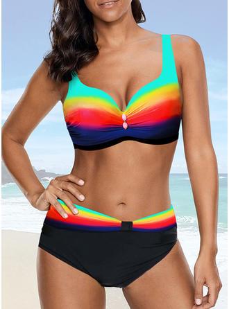Spleiß Farbe Träger Sexy Bikinis Bademode