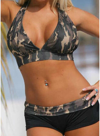V-Ausschnitt Trägerlos Sport Lässige Kleidung Bikinis Bademode