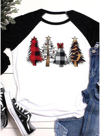 Baumwollmischungen Drucken Weihnachten Weihnachts-Sweatshirt