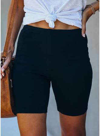 Einfarbig Lässige Kleidung Sportlich Kurze Hose