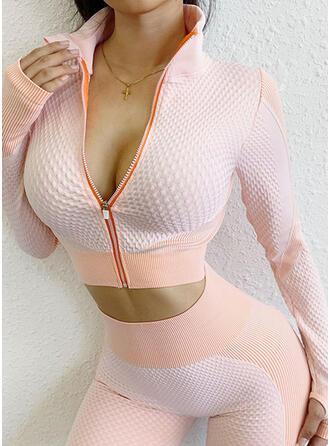 Nylon Chinlon Plain Print Patchwork Sports underwear Moisture wicking