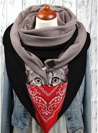 Tier/Druck mode/Schwarze Katze Schal