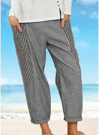 gestreift Übergröße Lässige Kleidung gestreift Lounge Pants