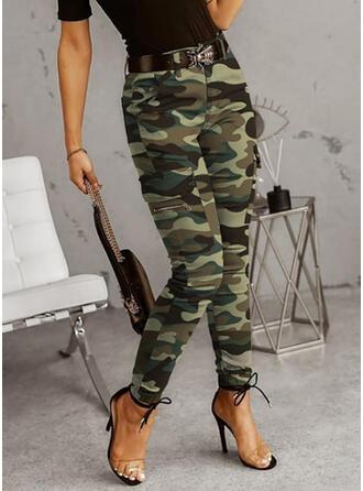 Übergröße Tarnen Lässige Kleidung Jahrgang Hosen