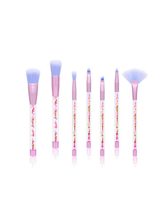 7 PCS Transparenter Griff Make-up Pinsel Sets