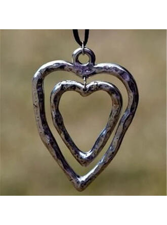 Classic Heart Valentine's Day Alloy Braided Rope Women's Necklaces