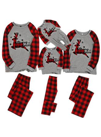 Hirsch Karierte Passende Familie Christmas Pajamas
