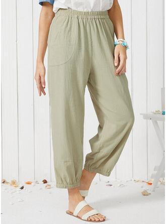 Einfarbig Übergröße Lässige Kleidung Einfach Lounge Pants