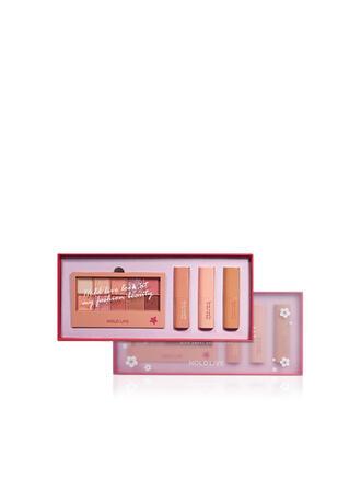 4 STÜCK Matt Lippenstifte Lidschatten-Palette mit Box