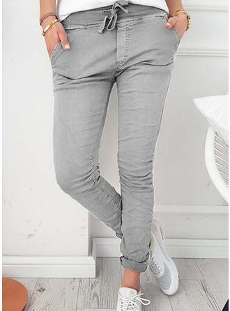 Taschen Shirred Lange Elegant Sexy Dünn Hosen