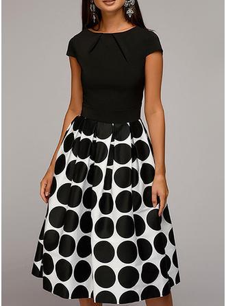 Gepunktet A-Linien Knielang Vintage/Party/Elegant Kleider