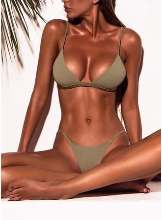 Niedrig Tailliert Tanga Träger Sexy Bikinis Bademode