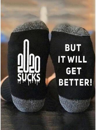 Buchstaben/Druck Weihnachten/Crew Socks/Unisex Socken