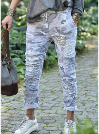 Print Camouflage Long Casual Plus Size Pocket Pants