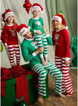 Weihnachtsmann Rentier Farbblock Bär Gestreift Blumen Weihnachten Passende Familie Christmas Pajamas