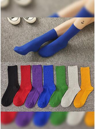 Einfarbig/Bunt Atmungsaktiv/Komfortabel/Crew Socks/Unisex Socken
