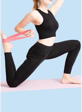 Einfarbig Yoga Pull Band Fitness-Widerstandsbänder