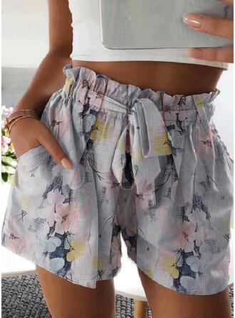 Blumen Druck Lässige Kleidung Kurze Hose