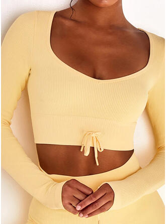 Nylon Chinlon Plain Sports underwear Moisture wicking