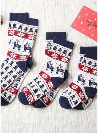 karierte/Weihnachten Rentier Komfortabel/Weihnachten/Crew Socks/Unisex Socken
