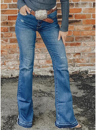 Shirred Übergröße Sexy Jahrgang Denim Jeans
