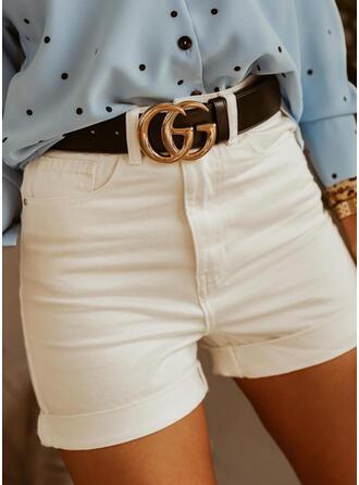 Einfarbig Taschen Lässige Kleidung Einfarbig Kurze Hose