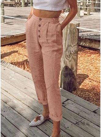 Einfarbig Capris Lässige Kleidung Sexy Kurze Hose