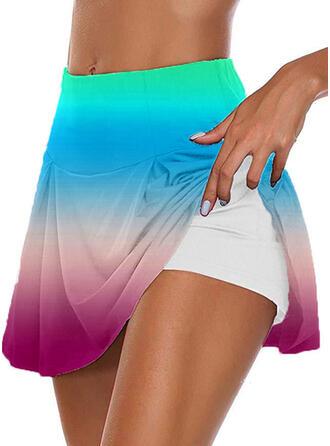 Übergröße Gradient Lässige Kleidung Sportlich Kurze Hose