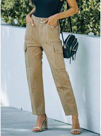 Einfarbig Taschen Lässige Kleidung Einfarbig Hosen